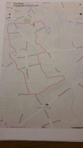 Parcours van de 6 en 12 km